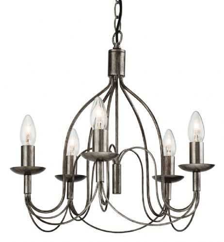 Firstlight 2317AS Antique Silver Regency 5 light Fitting